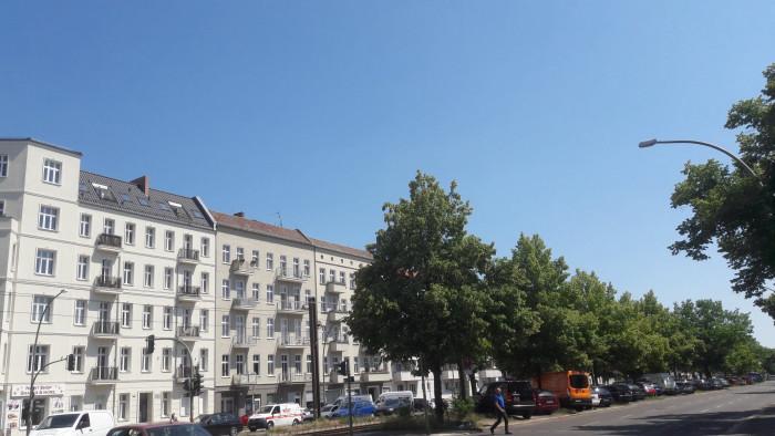 Berlin-Friedrichshain, schönes Wetter
